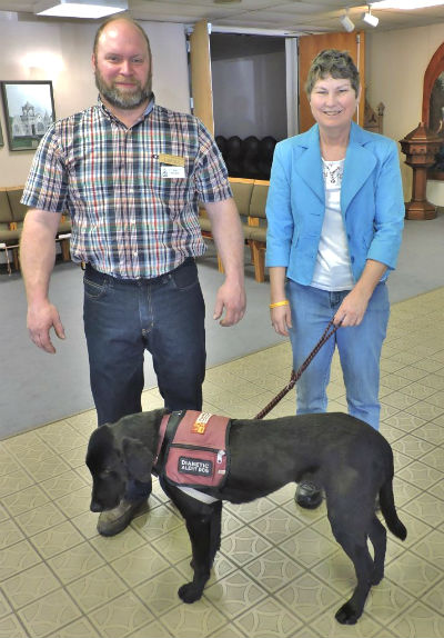 Al Flickinger, Sharyn French & Milo (Milo doesn't get to vote at the meetings)