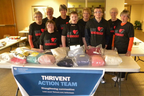 Packing AIDs kits for Africa