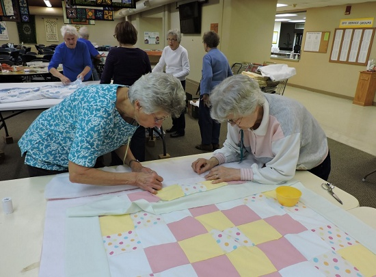 Quilting has resumed for the year! Join them 8 am Wednesday mornings.