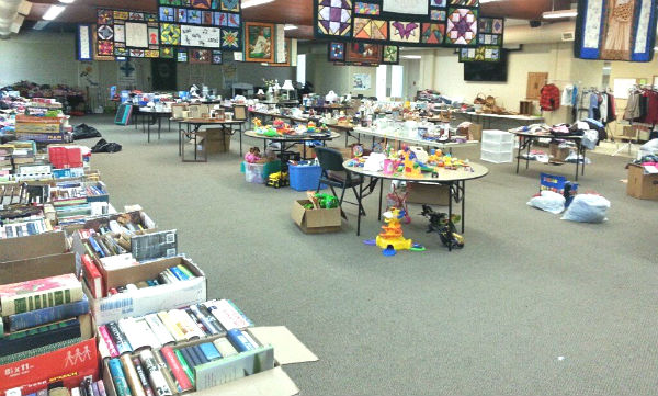 A lot of stuff came in for the rummage sale!