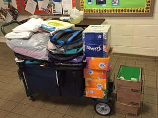 Supplies collected at St. John's.